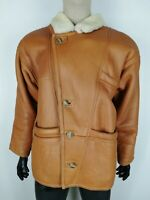 SHEARLING MONTONE SHEEPSKIN Cappotto Giubbotto Jacket Giacca Tg 50 Uomo Man C