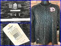 NWT DeMarini Gray Pullover 1/4 Zip Base Layer Top Warm Up Shirt Mens Lg Baseball