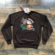 VTG NEW Cleveland BROWNS Sweatshirt Youth Size XL 90s 95 Retro Cavs Indians NWT