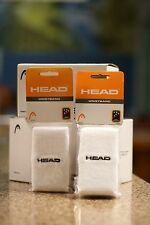 "Head Racquetball Wristband Sweatband White Color, Long 5"". Two Pairs"