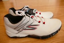 Sketchers Men's GoGolf Focus Waterproof Golf Shoes White Red Size 12 (54506)