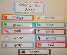 Color of the Week Learning Center Labels.  Daycare supplies and accessories.