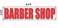 Barber Shop Banner Sign 2x8 for Business Shop Building Store Front