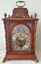 Dutch Clock Mantel Shelf Clock 40cms 1964 Hermle Moon Dial Double Bell Repairs
