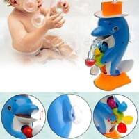 Cute Dolphin Bathroom Shower Bath Wheel Toy Kids Baby Water Spraying Tool Gift