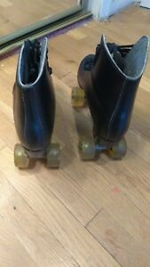 Mens black precision roller skates