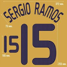 Sergio Ramos 15. Spain Away football shirt 2008 - 2010 FLEX NAMESET NAME SET