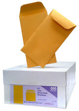 7 Coin Blank Envelope Brown Kraft Case of 5000