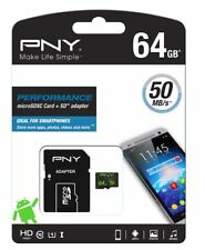 PNY Micro SD 64GB SDHC Memory Card For Huawei Mobile Phone Class 10 Microsd