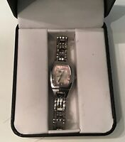 Relic ZR34024 Mother of Pearl Pink & White Dial Water Resistant Watch