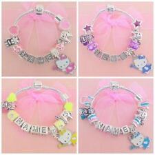 Versilberte Modeschmuck-Bettelarmbänder & -Anhänger aus Perlen für Kinder