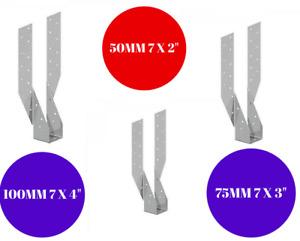 BRACKETS TIMBER JOIST HANGERS DECKING LOFTS ROOFING GALVANISED 100MM X 245MM