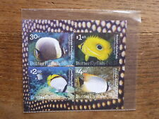 NIUE 2017 BUTTERFLY FISH 4 STAMP MINI SHEET MINT STAMPS