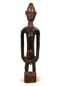 Art Africain Arts Premiers - Ancienne & Dramatique Statue Bambara - 41 Cms +++++