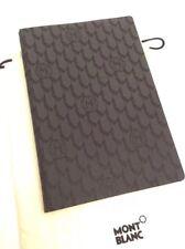 NEU MONTBLANC Notizbuch Notebook Schreibheft Block Stoff - 15,5 x 10,5cm -654