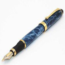 Fountain Pen Jinhao X450 Blue Marble Fine Medium Nib Business Office Stationery