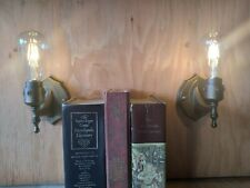 2 Edison Wall Sconces !With Dimmable Edison Led Lamps! !Cheap!