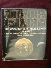 Carl Sagan Ann Druyan Timothy Ferris MURMURS OF EARTH 1st Edition 2nd Print 1978