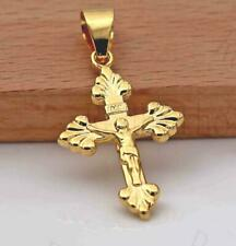 Passion Sunday Prayer Necklaces Belief Ds 18K Gold Filled Pendant Cross of Jesus