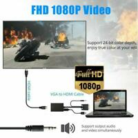 VGA Male To HDMI Female 1080P HD+Audio TV AV HDTV Video Cable Converter Adapter