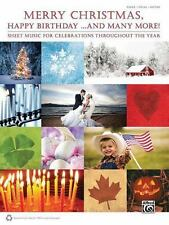 Merry Christmas Happy Birthday And Many More Piano Vocal Guitar Book NEW 50% OFF