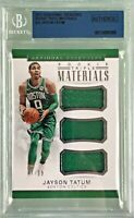 Jayson Tatum 2017-18 Panini National Treasures Rookie Triple Materials /99