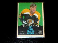 1970-71 OPC VINTAGE HOCKEY CARD # 249  BOBBY ORR  ART ROSS TROPHY  (BRUINS) HOF