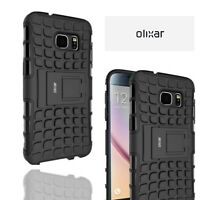 Olixar Samsung Galaxy S7 ArmourDillo Case Rugged Tough TPU Black Case Kickstand