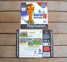 WORLD CUP 98 COPPA DEL MONDO (1998) PLAYSTATION 1 COVER ORIGINALE, NO DISCO