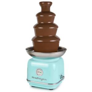 Retro Series 4-Tier Aqua Chocolate Fondue Fountain