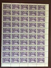 Canada Stamp Sheet/Pane - 1949 4-cent HALIFAX BICENTENARY Sheet of 50(UT 283)