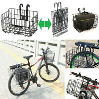 Bicycle Rear Basket Removable Bike Handlebar Pet Carrier Bag Storage CNY