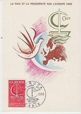 CARTE MAXIMUN FRANCE   TIMBRE N° 1491 EUROPA COLOMBRE