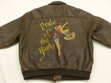 AVIREX Aviateur Pilotes VESTE EN CUIR TYPE A2 Pride of the Yanks gr : XXL Tip