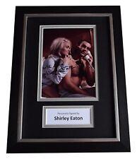 Shirley Eaton Signed A4 Framed Autograph Photo Display James Bond Film AFTAL COA