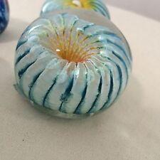 Optic Paperweights, (Set of 2) Colorful Art Glass, Bermuda artist Gayle Weyland!