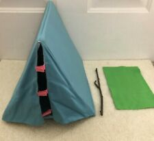 American Girl Angelina Ballerina Camping lot folding fold up tent stick and mat