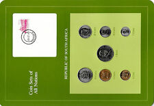 Coin Sets of All Nations South Africa w/card UNC 1981-1984 1 Rand 1982 km115