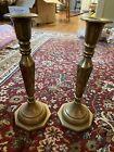 antique+brass+candlesticks+pair