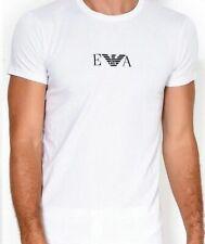 Emporio Armani - T-shirt a Punta tonda Uomo Blanc (bianco) XL