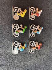 ANCIEN JOUET LOT DE 6 FIGURINES COUREURS CYCLISTES TDF Vélo