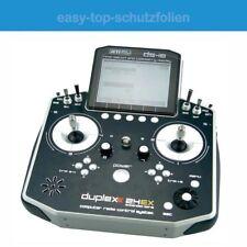 Multiplex Cockpit SX9 - 3x antireflex Displayschutzfolie - Anti-Shock Schutz Fol
