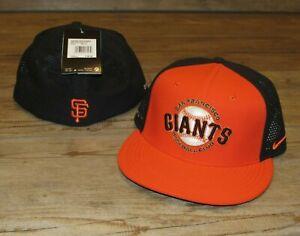 Nike San Francisco Giants True Vapor Mesh Back Flex Fitted Hat Cap Men's M/L