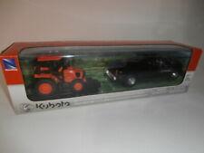 NewRay Kubota M5-111 Tractor Dodge 3500 Pickup Truck Trailer Farm Playset
