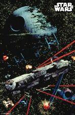 Star Wars - Space Battle - Classic Movie Poster - 22x34 - Death Star 17597