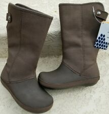 928485a32 CROCS Berryessa II Women or Girls Suede Boots Espresso Size US 4 EU 33.5