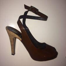 Fendi Leather Ankle Strap Heels Size 40/ UK 7.5
