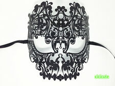 Skull Filigree Black Metal Venetian Masquerade Party Women/Men's Hollow Mask