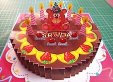 3D Pop up Birthday GREETING CARD Handmade Folding 3_D Gift Cake5 India Make