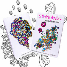 Adult Colouring Book Whirlybits Volume 1 Relax AntiStress Art Therapy